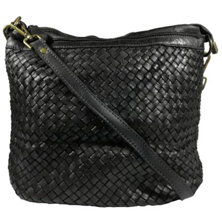Leather handbag Vintage A281 black