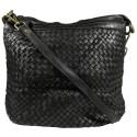 Lederhandtasche Vintage A281 schwarz