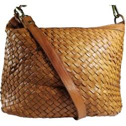 Kožená kabelka Vintage A281 hnedá