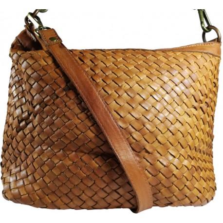 Leather handbag Vintage A281 brown