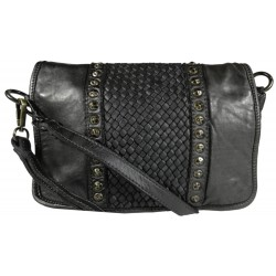Kožená kabelka Vintage 5748A černá