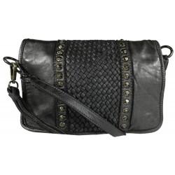 Lederhandtasche Vintage 5748A schwarz