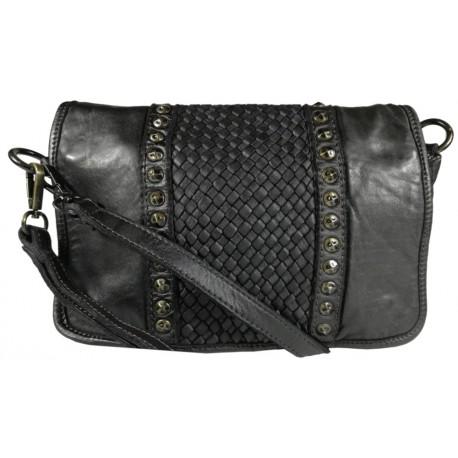 Kožená kabelka Vintage 5748A čierna