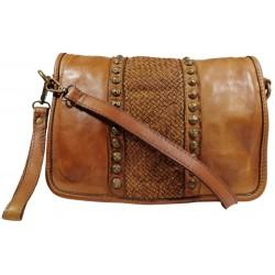 Lederhandtasche Vintage 5748A braun