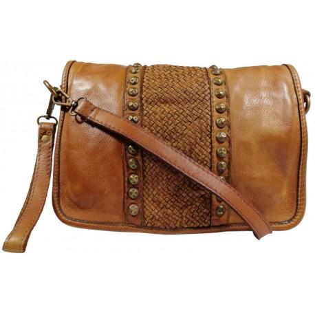 Kožená kabelka Vintage 5748A hnedá