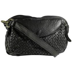 Kožená kabelka Vintage L6038 čierna