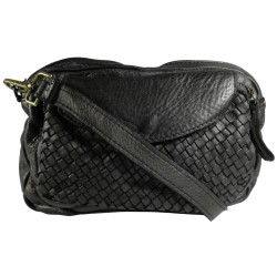 Leather handbag Vintage L6038 black