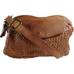Kožená kabelka Vintage L6038 hnedá