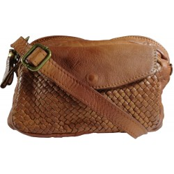 Leather handbag Vintage L6038 brown