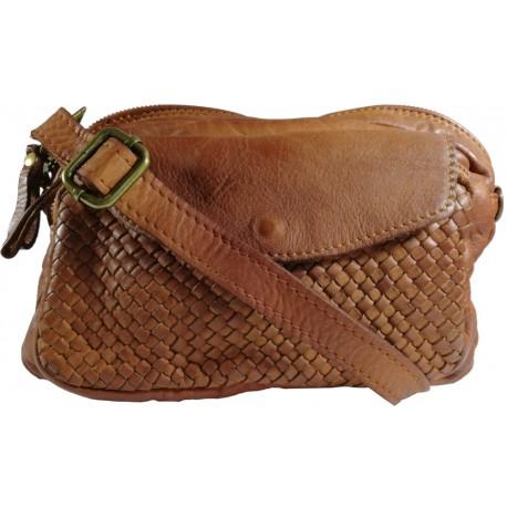 Kožená kabelka Vintage L6038 hnědá