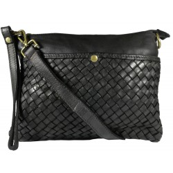 Leather handbag Vintage L6093 black
