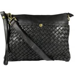Lederhandtasche Vintage L6093 schwarz