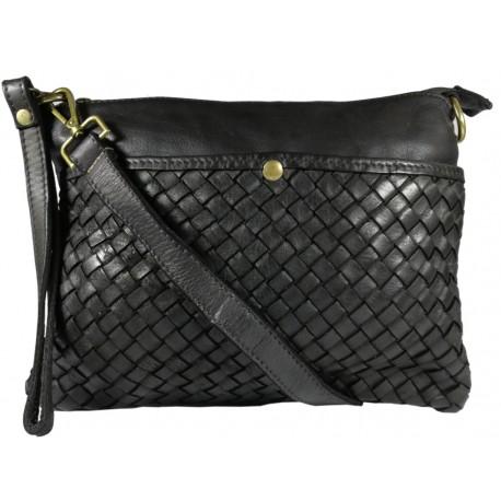 Leather handbag Vintage L6093 black
