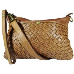 Kožená kabelka Vintage L6093 hnedá