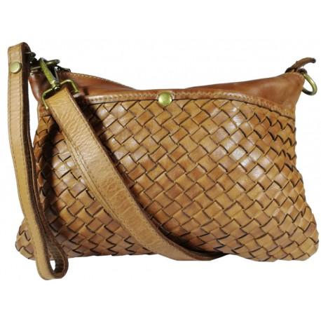 Kožená kabelka Vintage L6093 hnědá