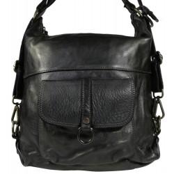 Kožený batoh Vintage 5720A čierny