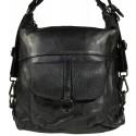 Vintage leather backpack 5720A Black