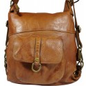 Vintage leather backpack 5720A brown