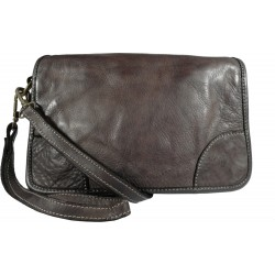 Lederhandtasche Vintage 9202 schwarz