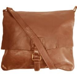Kožená kabelka Vintage 5794A hnedá