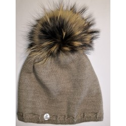 Winter Strickmütze hellbraun
