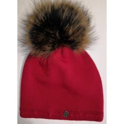 Zimná pletená vlnená čiapka biela 1