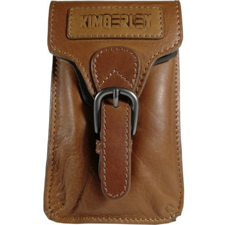 Leather belt pouch BP06 brown
