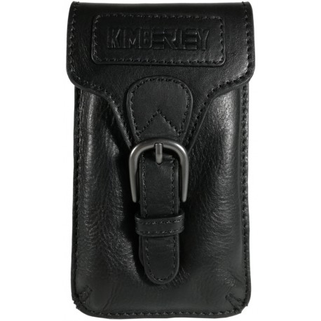 Leather belt pouch Kimberley BP06 black