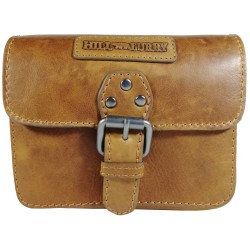 Leather belt pouch Hill Burry 3278 brown