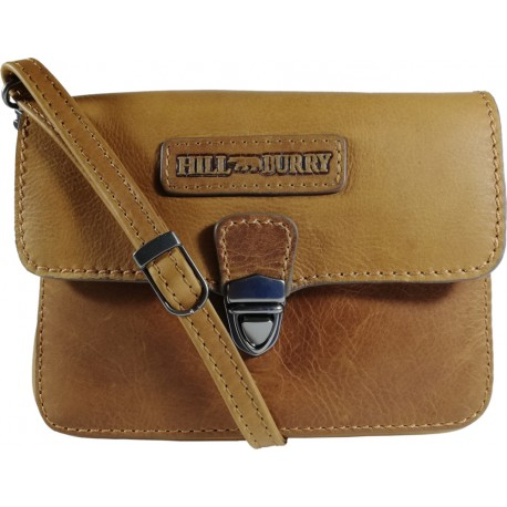 Leather belt case and over the shoulder Burry Hill 3279 Brown