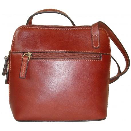 Kožená kabelka 1808 (16x16x8,5)