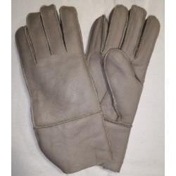 Zimní dámské kožené rukavice šedé