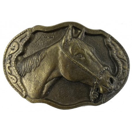Ozdobná spona na opasok Hlava koňa