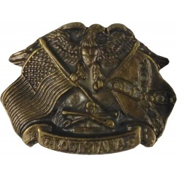 Decorative belt clip Eagle color brass