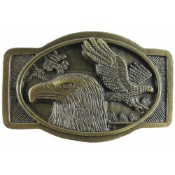 Decorative belt clip Eagles, color brass