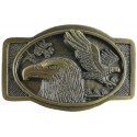 Decorative belt clip Eagles, color brass