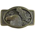 Dekorative Gürtelclip 2 Adler, Farbe Messing