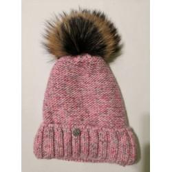 Zimní pletená vlněná čepice barvy MIX