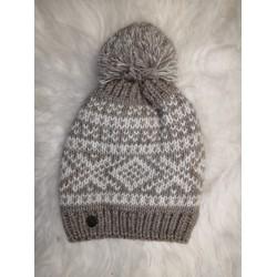 Zimná pletená vlnená čiapka tmavo-modrá