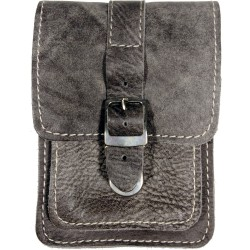 Leather belt case PZ2 gray
