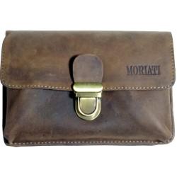 Leather belt case Moriati 870508 brown