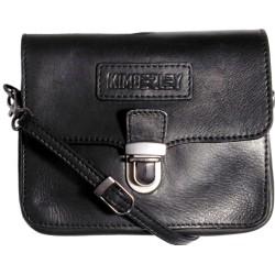 Kožené puzdro na opasok a taška cez rameno Kimberley 3279 čierne