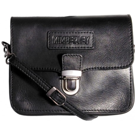 Leather case for belt and over the shoulder Kimberley 3297 black
