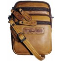 Malá pánska kožená taška cez rameno Kimberley GR500806 hnedá