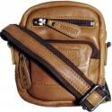 Small men's leather shoulder bag Kimberley GR500806 brown