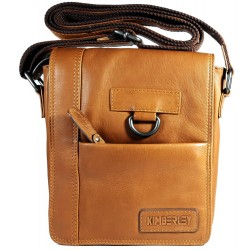 Men's leather shoulder bag Kimberley GR500406 brown