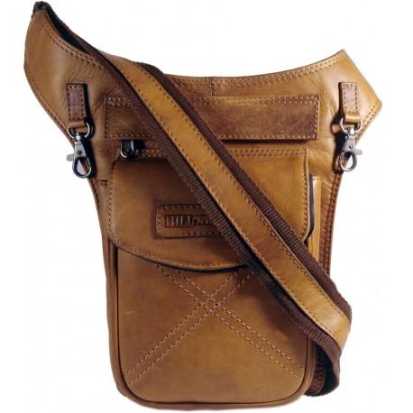 Kožená taška na telo Hill Burry 3113 hneda
