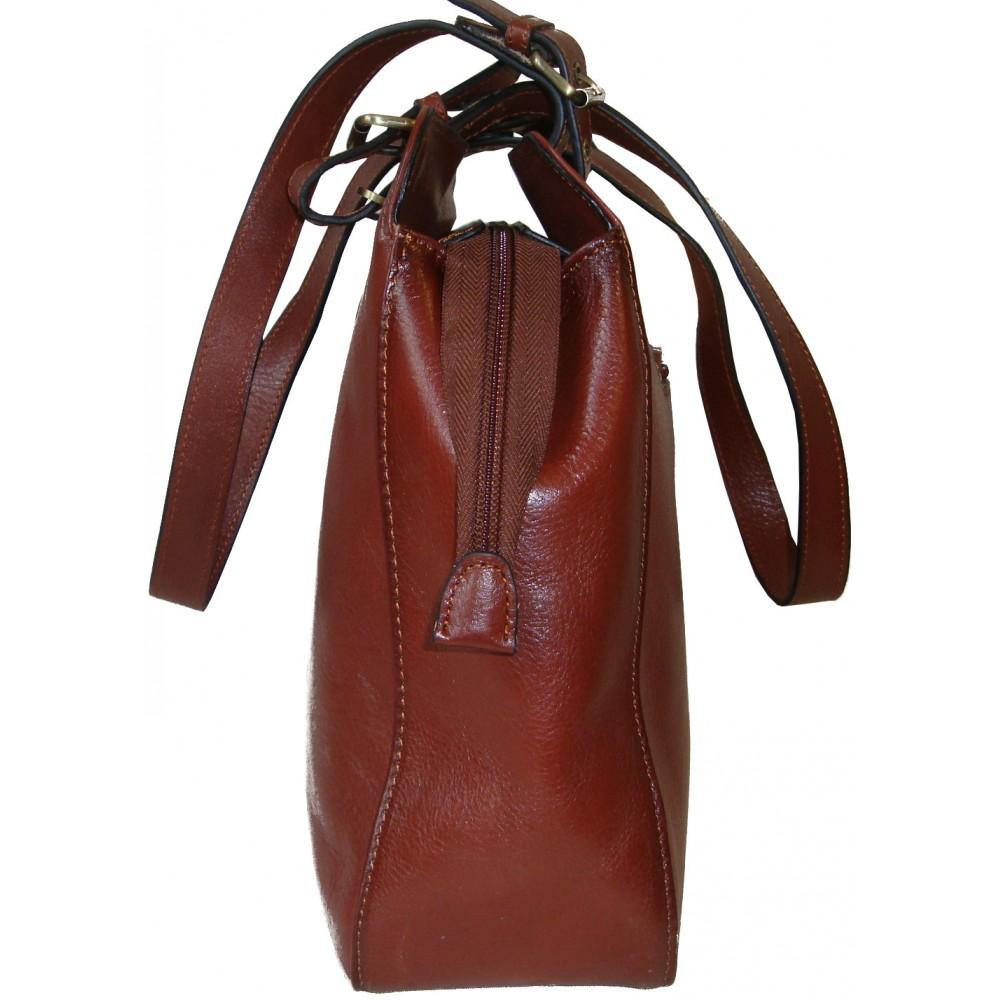 Kožená kabelka 82365 (41x27x10) - Faraon-sandals.cz b9f474984fb
