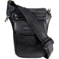 Hill Burry 3113 black leather body bag
