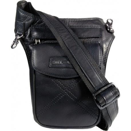 Hill Burry 3113 schwarzes Leder body bag